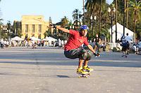 SAO PAULO, SP, 30/06/2012, SKATE PQ INDEPENDENCIA.<br /> <br />  No Parque da Independencia, que fica no bairro do Ipiranga, a Virada Esportiva tamb&eacute;m teve  Skate na tarde de hoje.<br /> <br />  Luiz Guarnieri/ Brazil Photo Press