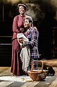 London, UK. 14.10.2016. Danielle Tarento, Steven M Levy, Sean Sweeney and Vaughan Williams present RAGTIME, at the Charing Cross Theatre. Directed by Thom Southerland, with lighting design by Howard Hudson. Picture shows:  Jennifer Saayeng (Sarah),  Ako Mitchell (Coalhouse). Photograph © Jane Hobson.