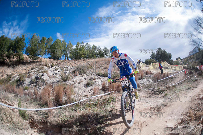 Chelva, SPAIN - MARCH 6: Sergio Arcas during Spanish Open BTT XCO on March 6, 2016 in Chelva, Spain