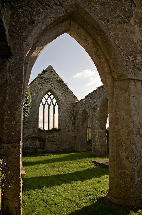 Ruins at the Franciscan Abbey in Adare, County Limerick, Ireland