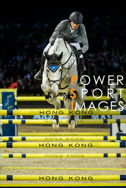 Christian Kukuk of Germany riding Cordess competes in the Longines Grand Prix during the Longines Masters of Hong Kong at AsiaWorld-Expo on 11 February 2018, in Hong Kong, Hong Kong. Photo by Ian Walton / Power Sport Images
