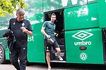 20.07.2019, Heinz Detmar Stadion, Lohne, Interwetten Cup 1.VfL Osnabrück vs SV Werder Bremen<br /> <br /> im Bild / picture shows <br /> Ankunft Werder bremen in Lohne<br /> Jiri Pavlenka (Werder Bremen #01)<br /> Foto © nordphoto / Kokenge