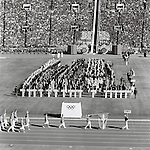 Denmark delegation,<br /> OCTOBER 10, 1964 - Opening Ceremony : Denmark delegation parades during the Opening Ceremony of 1964 Tokyo Olympic Games at National Stadium in Tokyo, Japan.<br /> (Photo by Shinichi Yamada/AFLO) [0348]