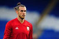 Gareth Bale of Wales   during the pre-match warm-up for the UEFA Nations League B match between Wales and Ireland at Cardiff City Stadium in Cardiff, Wales, UK.September 6, 2018