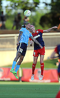 Boyds, MD - Saturday June 25, 2016: Tasha Kai, Megan Oyster during a United States National Women's Soccer League (NWSL) match between the Washington Spirit and Sky Blue FC at Maureen Hendricks Field, Maryland SoccerPlex.