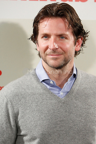 MADRID, ESP - JANUARY 16: Bradley Cooper attends the  'Silver Linings Playbook' photocall at Santo Mauro Hotel in Madrid, Spain. January 16, 2013. Credit: ALTERPHOTOS/NortePhoto/MediaPunch Inc. ***FOR USA ONLY***