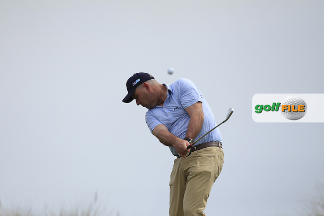 Gary Murphy (Flogas Ambassador and former European Tour player) on the 8th tee during the Flogas Irish Amateur Open Championship Am-Am at Royal Dublin on Monday 9th May 2016.<br /> Picture:  Thos Caffrey / www.golffile.ie