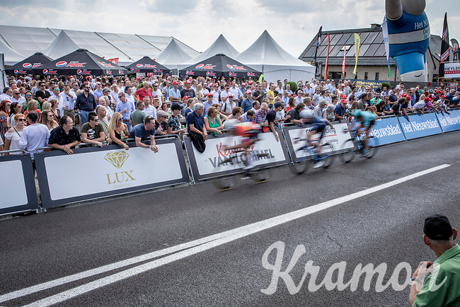 leading group crossing the arrival zone for another local lap. <br /> <br /> Heistse Pijl 2019<br /> One Day Race: Turnhout > Heist-op-den-Berg 194km (UCI 1.1)<br /> ©kramon