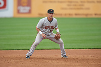 Frederick Keys third baseman Stephen Wilkerson (17) during the second game of a doubleheader against the Wilmington Blue Rocks on May 14, 2017 at Daniel S. Frawley Stadium in Wilmington, Delaware.  Wilmington defeated Frederick 3-1.  (Mike Janes/Four Seam Images)