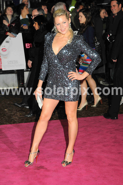 **ALL ROUND PICTURES FROM SOLARPIX.COM**                                             **WORLDWIDE SYNDICATION RIGHTS**                                                                                  Caption: arrives at the Gala Premiere of Burlesque at the Empire Cinema in London, UK. 13 December 2010                                                                              This pic: Abi Titmuss                                                                                        JOB REF: 12603 MSR       DATE: 13_12_2010                                                           **MUST CREDIT SOLARPIX.COM OR DOUBLE FEE WILL BE CHARGED**                                                                      **MUST AGREE FEE BEFORE ONLINE USAGE**                               **CALL US ON: +34 952 811 768 or LOW RATE FROM UK 0844 617 7637**