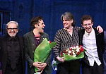 Craig Lucas, Adam Chanler-Berat, Pam MacKinnon and Sam Pinkleton during the Broadway Opening Night Performance Curtain Call for 'Amelie' at the Walter Kerr Theatre on April 3, 2017 in New York City