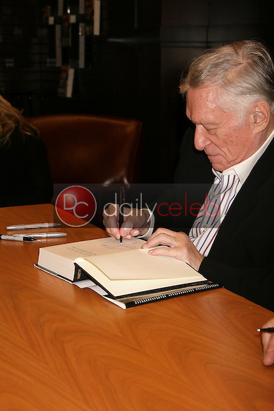 Hugh Hefner <br /> at an in store appearance signing copies of his books 'Mr. Playboy' and 'Playboy The Complete Centerfolds'. Barnes and Noble the Grove, Los Angeles, CA. 12-16-08<br /> Dave Edwards/DailyCeleb.com 818-249-4998