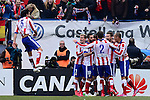 Atletico Madrid's Portuguese midfielder Tiago Mendes during the Spanish league football match Club Atletico de Madrid vs Real Madrid CF at the Vicente Calderon stadium in Madrid on February 7, 2015.         PHOTOCALL3000/ DP