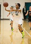 Connally's Jamia Miller passes the ball against Hutto at home Friday.  The Lady Cougars lost to the Hutto Hippos 54-42.  (LOURDES M SHOAF for Round Rock Leader.)