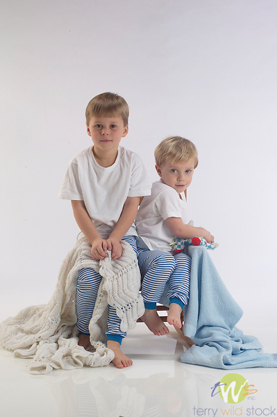 Children in pajamas