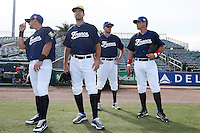 20 September 2012: Maxime Lefevre, Pierrick Le Mestre, Owen Ozanich and Boris Marche are seen prior to Spain 8-0 win over France, at the 2012 World Baseball Classic Qualifier round, in Jupiter, Florida, USA.