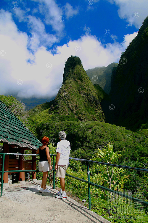 Ioa Valley State Park and it's main landmark the Iao Needle invite visitors to explore the beauty of the valley isle. Maui.