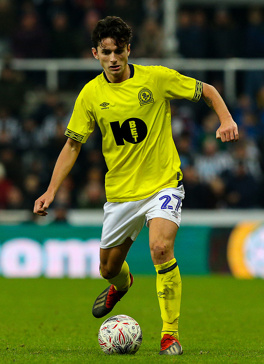 Blackburn Rovers' Lewis Travis<br /> <br /> Photographer Alex Dodd/CameraSport<br /> <br /> Emirates FA Cup Third Round - Newcastle United v Blackburn Rovers - Saturday 5th January 2019 - St James' Park - Newcastle<br />  <br /> World Copyright © 2019 CameraSport. All rights reserved. 43 Linden Ave. Countesthorpe. Leicester. England. LE8 5PG - Tel: +44 (0) 116 277 4147 - admin@camerasport.com - www.camerasport.com