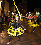 Big Burns Supper 2014, Homecoming Carnival in Dumfries town centre. Community groups performing through the streets.