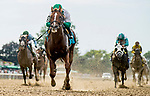 July 6, 2019 : Promises Fulfilled #9, ridden by Luis Saez, wins the John A. Nerud during the Stars and Stripes Racing Festival at Belmont Park in Elmont, New York. Scott Serio/Eclipse Sportswire/CSM