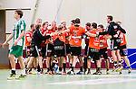 Stockholm 2014-11-08 Handboll Elitserien Hammarby IF - IFK Kristianstad :  <br /> Kristianstads spelare jublar efter matchen mellan Hammarby IF och IFK Kristianstad <br /> (Foto: Kenta J&ouml;nsson) Nyckelord:  Eriksdalshallen Hammarby HIF HeIF Bajen IFK Kristianstad jubel gl&auml;dje lycka glad happy