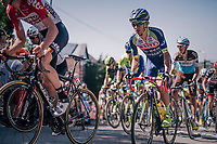 Guillaume Martin (FRA/Wanty-Groupe Gobert) up the Mur de Huy<br /> <br /> 82nd Fl&egrave;che Wallonne 2018 (1.UWT)<br /> 1 Day Race: Seraing - Huy (198km)