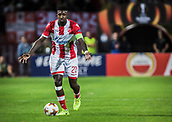 14th September 2017, Red Star Stadium, Belgrade, Serbia; UEFA Europa League Group stage, Red Star Belgrade versus BATE; Midfielder Mitchell Donald of Red Star Belgrade in action with the ball