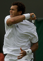 Jo-Wilfried Tsonga (FRA) (9) against Andrey Golubev (KAZ) in the first round of the Gentlemen's Singles. Tsonga beat Golubev 6-3 5-7 7-6 7-6  ..Tennis - Wimbledon - Day 1 - Mon 22nd June 2009 - All England Lawn Tennis Club  - Wimbledon - London - United Kingdom..Frey Images, Barry House, 20-22 Worple Road, London, SW19 4DH.Tel - +44 20 8947 0100.Cell - +44 7843 383 012..