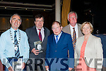 Killarney Mayor John Joe Culloty, former Taioseach Brian Cowan,  John O'Leary, former Minister and Ceann Comhairle John O'Donoghue and former Councillor Sheila Dickinson at the launch of his autobiography On the Doorsteps in the INEC on Friday night