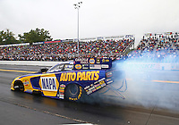 Oct 2, 2016; Mohnton, PA, USA; NHRA funny car driver Ron Capps during the Dodge Nationals at Maple Grove Raceway. Mandatory Credit: Mark J. Rebilas-USA TODAY Sports