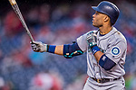 23 May 2017: Seattle Mariners infielder Robinson Cano at bat in the first inning against the Washington Nationals on a rainy day at Nationals Park in Washington, DC. The Nationals defeated the Mariners 10-1 to take the first game of their inter-league series. Mandatory Credit: Ed Wolfstein Photo *** RAW (NEF) Image File Available ***