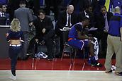 17th January 2019, The O2 Arena, London, England; NBA London Game, Washington Wizards versus New York Knicks; English comedian Michael Mcintyre watches the game