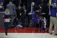 17th January 2019, The O2 Arena, London, England; NBA London Game, Washington Wizards versus New York Knicks; English comedian Michael Mcintyre watches the game