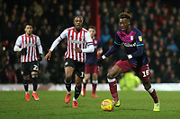 Tammy Abraham of Aston Villa, on loan from Chelsea, in action during Brentford vs Aston Villa, Sky Bet EFL Championship Football at Griffin Park on 13th February 2019