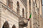 Palazzo del Broletto and the Duomo in Piazza Duomo of Como, Italy