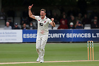 Harry Podmore of Kent celebrates taking the wicket of Daniel Lawrence during Essex CCC vs Kent CCC, Specsavers County Championship Division 1 Cricket at The Cloudfm County Ground on 29th May 2019
