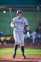 Georgetown Hoyas catcher Richie O'Reilly (11) at bat during a game against the Chicago State Cougars on March 3, 2017 at North Charlotte Regional Park in Port Charlotte, Florida.  Georgetown defeated Chicago State 11-0.  (Mike Janes/Four Seam Images)