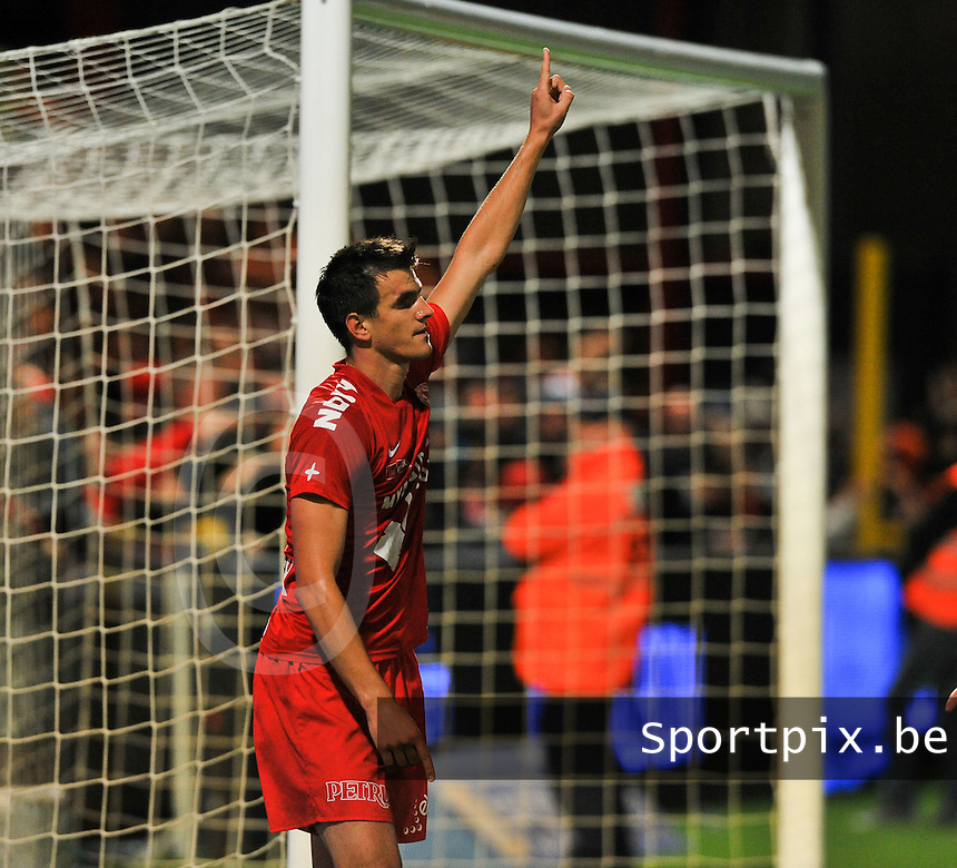 KV Kortrijk - Club Brugge KV : Ivan Santini scoorde de 3-1<br /> foto VDB / Bart Vandenbroucke