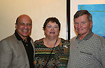 OLTL's Thom Christopher poses with wife and Carol Dickson and her husband Jim  at the One Life To Live Fan Club Luncheon on August 16, 2008 at the New York Marriott Marquis, New York, New York.  (Photo by Sue Coflin/Max Photos)