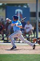 Tampa Bay Rays Zach Rutherford (14) during a Minor League Spring Training game against the Minnesota Twins on March 17, 2018 at CenturyLink Sports Complex in Fort Myers, Florida.  (Mike Janes/Four Seam Images)