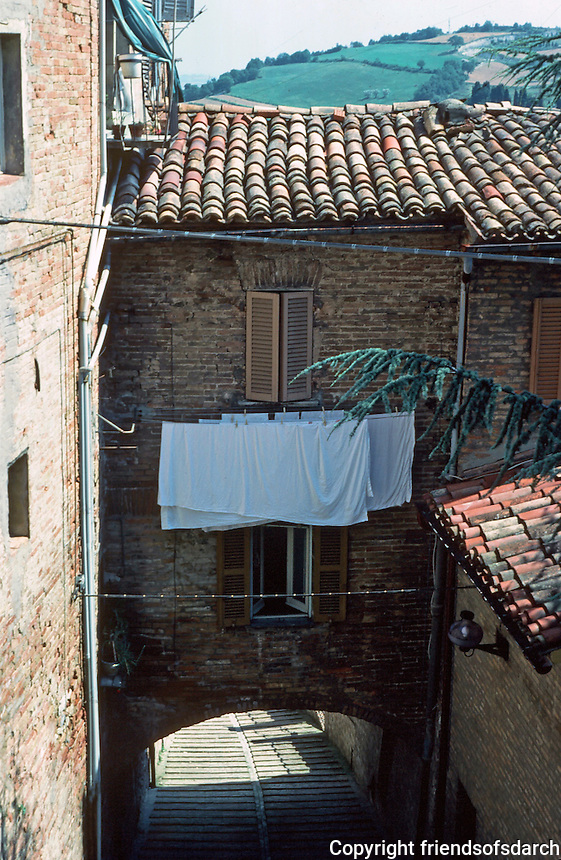 Urbino:   Lower Street.  Photo '83.