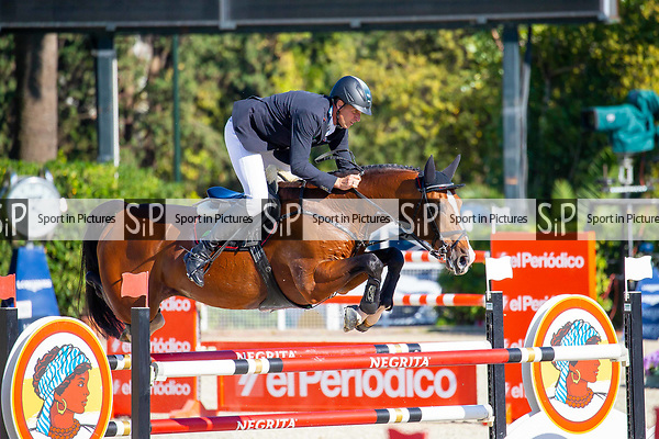 6th place. Andre Theme riding Contadur. GER. Negrita Cup. Longines FEI Jumping Nations Cup Final. Showjumping. Barcelona. Spain. Day 1.05/10/2018. ~ MANDATORY Credit Elli Birch/Sportinpictures - NO UNAUTHORISED USE - 07837 394578