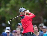 Rory McIlroy in action during his first round at the Emirates Australian Open Golf
