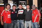 Aidan Kirwan, Paul Holcroft, Francis McGlew, John Mathews and Lee Holmes outside McHughs...Photo NEWSFILE/Jenny Matthews.(Photo credit should read Jenny Matthews/NEWSFILE)....This Picture has been sent you under the condtions enclosed by:.Newsfile Ltd..The Studio,.Millmount Abbey,.Drogheda,.Co Meath..Ireland..Tel: +353(0)41-9871240.Fax: +353(0)41-9871260.GSM: +353(0)86-2500958.email: pictures@newsfile.ie.www.newsfile.ie.FTP: 193.120.102.198.