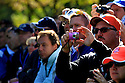 Fan with camera   during practice thursday of the 39th Ryder Cup matches, Medinah Country Club, Chicago, Illinois, USA.  28-30 September 2012 (Picture Credit / Phil Inglis)