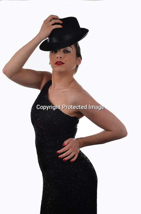 Stock Photo of woman in black dress