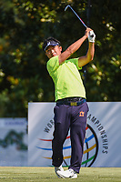 Kodai Ichihara (JPN) watches his tee shot on 8 during round 4 of the WGC FedEx St. Jude Invitational, TPC Southwind, Memphis, Tennessee, USA. 7/28/2019.<br /> Picture Ken Murray / Golffile.ie<br /> <br /> All photo usage must carry mandatory copyright credit (© Golffile | Ken Murray)