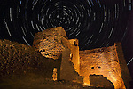 Star Trails Over Wukoki Ruin, Wupatki National Monument, Arizona