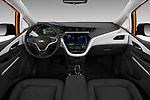 Stock photo of straight dashboard view of 2017 Chevrolet Bolt-EV Premier 5 Door Hatchback Dashboard