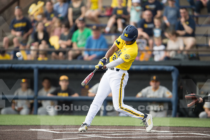 The University of Michigan baseball team defeats Iowa, 11-5, at the Wilpon Baseball Complex in Ann Arbor, Mich. on May 2, 2015.
